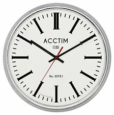 Acctim 27747 Jura Wall Clock London Chrome