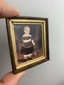 Hand Framed Print Artisan Tammy Greeman Dollhouse Miniature 1/12 Scale