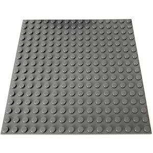 LEGO LOT OF 100 NEW 2 X 2 DARK BLUISH GREY PLATES TOWN CITY BUILDING BLOCKS