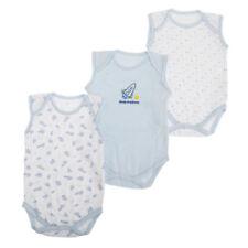 Vestiti con smanicato per bambino da 0 a 24 mesi 100% Cotone, Taglia/Età 3-6 mesi