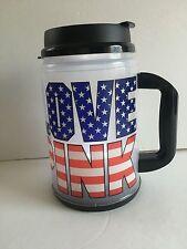 VICTORIA SECRET PINK CHUG MUG / COFFEE MUG / HOT/COLD TRAVEL THERMO CUP BLUE NEW