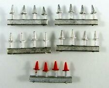 N Scale Traffic Safety Cones unpainted quantity 20 by Showcase Miniatures (539)