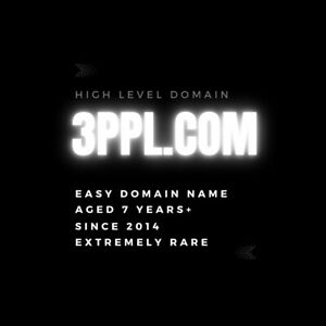 3ppl.com - 4 Letter Premium Pronounceable LLLL.com Domain Name