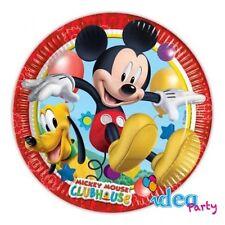PIATTI TOPOLINO 23 cm - addobbi tavola Disney festa compleanno bambino 8 pz