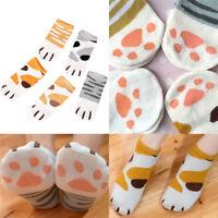 Lady Girl Summer Winter Cartoon Cute Cats Paw Boat Low Cut Ankle Short Socks FT