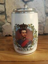 Bierkrug Zinn Ludwig 2 Koenig von Bayern