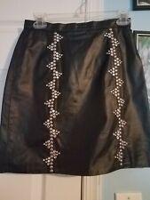Vintage Leather Studded Skirt 5/6