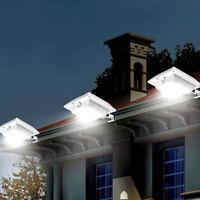 6LED Solar Light Sensor  Gutter Light Outdoor Wall Roof Garden Lamp Cold White