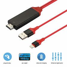 CABLE ADAPTADOR 8 PINES A HDMI TV AV 2M PARA IPHONE 7 6 IPAD 5 IPAD MINI HDTV