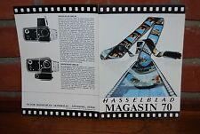 REVUE  HASSELBLAD MAGASIN 70 DE 1970