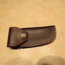 Leather knife sheath holder snap closure belt attachment