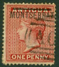 SG 1 Montserrat 1876-83  1d red. Very fine used CAT £17