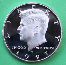 1997 S SILVER Proof Kennedy Half Dollar Coin 50 Cent JFK from US Mint Proof Set