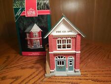 Hallmark 1991 Fire Station Ornament- 8th in the Nostalgic Houses & Shops Series