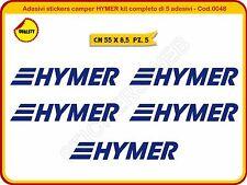 Adesivi stickers camper HYMER kit completo di 5 adesivi -Scegli Colore- Cod.0048
