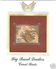 22 Karat Gold Count Basie Stamp Fdc 1996 Kid -Red Bank!