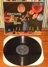 THE THREE SUNS Potpourri de Bailables 1959 spanish LP RCA 3L10104