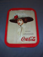 VINTAGE  1971 COKE DRINK DELICIOUS COCA COLA HAMILTON KING  GIRL METAL TRAY