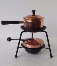 Copper Black Metal Fondue Pot with Burner