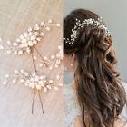 Wedding Bridal bridesmaid Flower Pearl Headpiece Hairpin Hair Pin Accessories