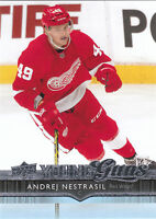 14/15 UPPER DECK YOUNG GUNS ROOKIE RC #222 ANDREJ NESTRASIL RED WINGS *27888