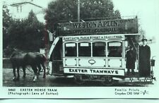 Pamlin repro photo postcard M465 Exeter Horse Tram Eastgate to Heavitree Devon