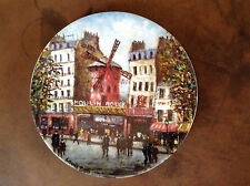 Limoges Le Moulin Rouge Sites Parisiens De Louis Dali Plate AF726