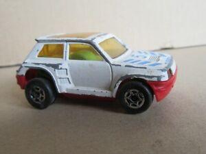 930M 1983'S Majorette Motor Renault 5 Turbo #5 Blanc 1:60