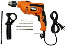 BLACK+DECKER KR554RE 550W 13mm Variable Speed Reversible Hammer Drill Machine wi
