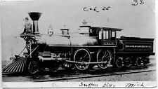 6H100B RP 2NDGEN 1940? CHICAGO & ATLANTIC RAILWAY ENGINE #35 SUTTON BAY MI