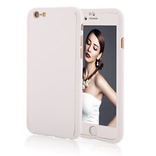 360° Full Body Tempered Glass Front Back Hard Case Cover For iPhone 6 6s Plus