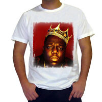 Notorious BIG Crown t shirt homme, Manches Courtes, Coton blanc cadeau