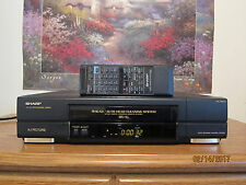 Sharp XA-410 vcr vhs player with remote