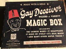 Rare Vintage Gay Deceiver Magic Magicians Boxed Set