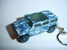 NEW 3D ARTIC CAMO HUMMER H2 CUSTOM KEYCHAIN keyring DIGITAL BLUE URBAN BLING!!!
