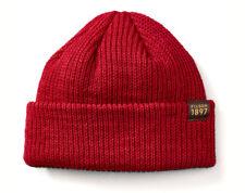 095901e499 FILSON 11030235 Virgin Wool Knit Red Cuff Watch Cap Beanie