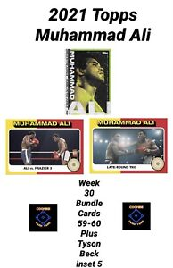 2021 TOPPS MUHAMMAD ALI - CARD #59 AND #60  PLUS BECK INSERT 5 - 3 CARD BUNDLE