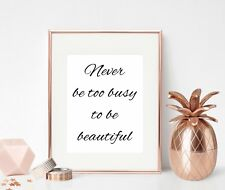 Inspirational Quote Print Beauty Wall Art Gift For Her Girl Female Motivational