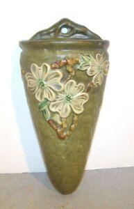 Roseville Pottery Dogwood Wall Pocket Vase