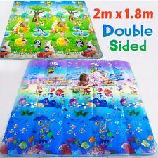 2mx1.8m Kid Play Mat Floor Activity Rug HUGE Double Sides Ocean Animals 283HC