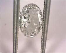 EGL USA Certified 0.56 E SI1 Oval Brilliant Natural Loose Diamond Gem Card