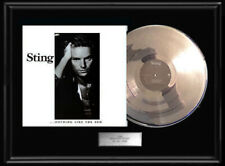 Sting Nothing Like The Sun White Gold Silver Platinum Tone Record Album Police