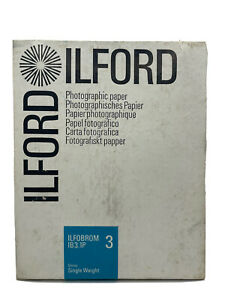 Ilford Photographic Paper Glossy Single Weight Ilfobrom IB3.1P 3 NEW