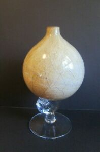Vintage Retro Mod CASED ART GLASS KROSNO POLAND JOZEFINA Decor Bud Vase Oil!