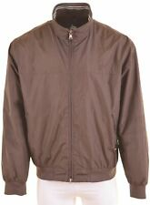 MARINA YACHTING Mens Bomber Jacket IT 58 3XL Brown Polyester Slim Fit  MF41
