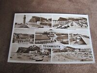 Real photographic Devon postcard  - Teignmouth Multiview