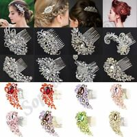 New Diamond Bridal Hair Comb Prom Party Fancy Dress Wedding Bridal Hair Clip B3