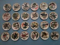 24 MINI Songbirds of the World Plates - Franklin Porcelain