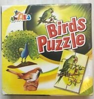18 pcs Awals Birds Puzzle-3 Puzzles in 1 box- Age 2+, Mini Puzzle series NEW