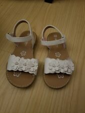 Self Esteem sandal white open toe young girl size 8.5M